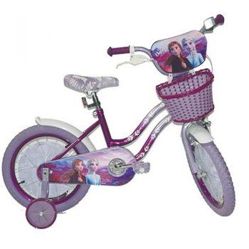 """אופניים לילדים עם גלגלי עזר  – פרוזן 2-מידה """"18 אינץ"""""""