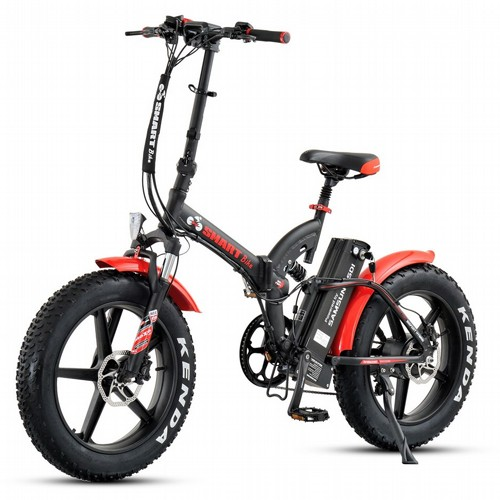 אופניים חשמליים ביג פוט 48V עם שיכוך מלא Smart Bike Big Foot Hybrid 2