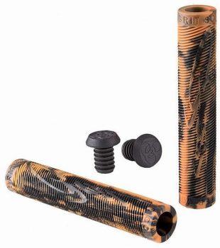 Grit Handlebar Grips 160mm Black / Orange