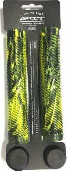 Grit Handlebar Grips 160mm Black / Fluro Yellow